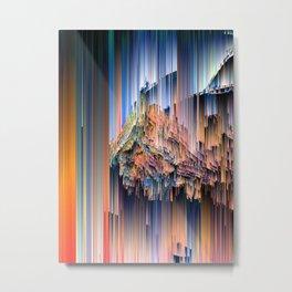 Weird Glitches - Abstract Pixel Art Metal Print