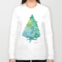 christmas tree Long Sleeve T-shirts featuring Christmas Tree by Elena Sandovici