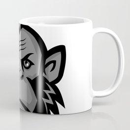 Chimpanzee Wearing Mohawk Mascot Coffee Mug