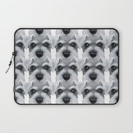 Schnauzer pattern-Grey Dog illustration original painting print Laptop Sleeve