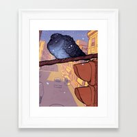 pigeon Framed Art Prints featuring Pigeon by Jacob Sanders