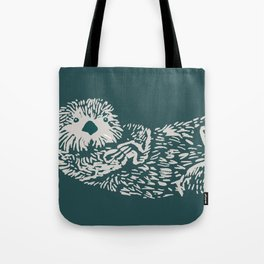 The handsome sea otter Tote Bag
