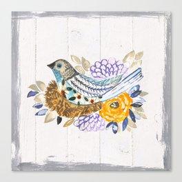 Nesting painted bird Canvas Print