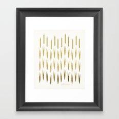 Gold Cattails Framed Art Print