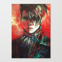 dragon Canvas Prints featuring Dragon by Alice X. Zhang