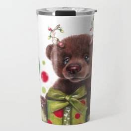 Bruno Christmas Bear (Rudolph Fan) Travel Mug