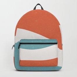 Shape study Retro blue orange Backpack