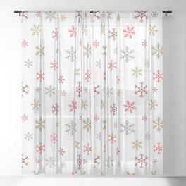 Christmas snowflakes Sheer Curtain