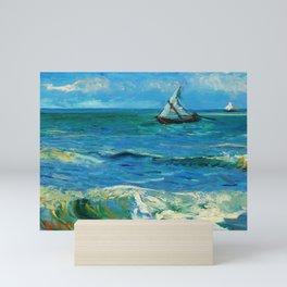 Vincent van Gogh - Seascape near Les Saintes-Maries-de-la-Mer, June 1888 Mini Art Print