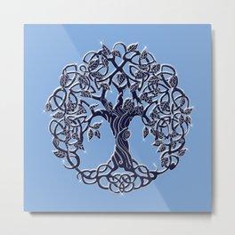 Tree of Life Blue Metal Print