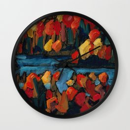 Autumn Foliage / Dennis Weber of ShreddyStudio Wall Clock