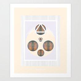 Monkey Head: Circle & Triangle Art Print