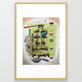 Inspirational Quote- Creativity Framed Art Print
