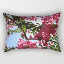 Perfect Pink Bougainvillea In Blossom Rectangular Pillow