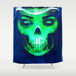 Skull Aglow Shower Curtain