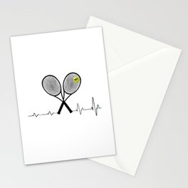 Tennis player funny gift Stationery Cards