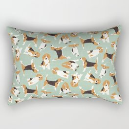 beagle scatter mint Rectangular Pillow