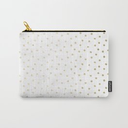 Delicate Gold Polka Dots Carry-All Pouch