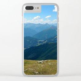 panorama on adventure park hög alps serfaus fiss ladis tyrol austria europe Clear iPhone Case