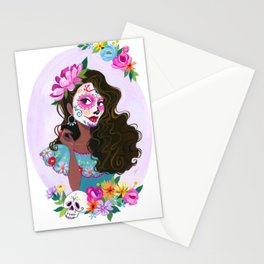 Day of the Dead - Pink Stationery Cards