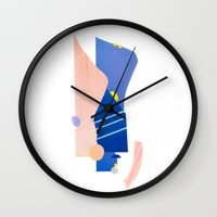 southwest Wall Clocks featuring southwest 2 by cardboardcities