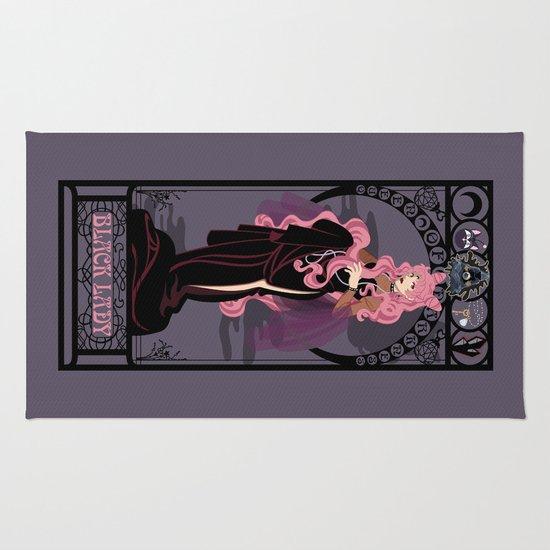 Black Lady Nouveau - Sailor Moon Rug