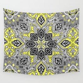 Boho Sunshine Medallion Pattern Wall Tapestry
