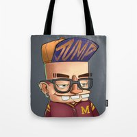 college Tote Bags featuring College boy  by Emrah Tumer