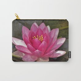 Pretty Pink Lotus Blossom Carry-All Pouch