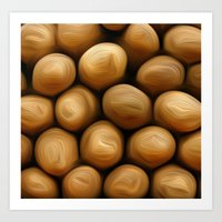 potato Art Prints featuring Potato Potato by MeatSteed