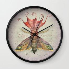 Squid Moth Wall Clock
