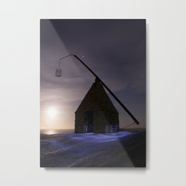 Lighthouse at World'd End (Verden Ende) on Tjøme in Norway Metal Print