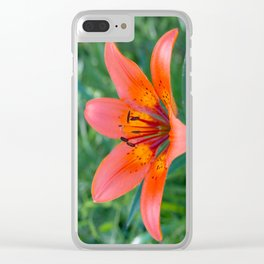 Lily Flower Clear iPhone Case