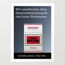 re:trospektive 1993: Reklame Art Print