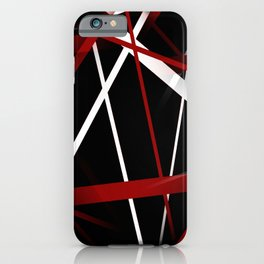 Seamless Red and White Stripes on A Black Background iPhone Case