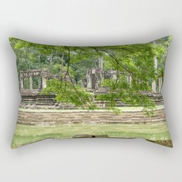 Pool & Structure of Baphuon Temple I, Angkor Thom, Siem Reap, Cambodia Rectangular Pillow