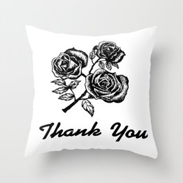 Thank You Roses Throw Pillow