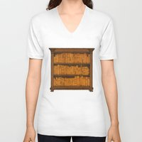 doors V-neck T-shirts featuring Many Doors by Megs stuff