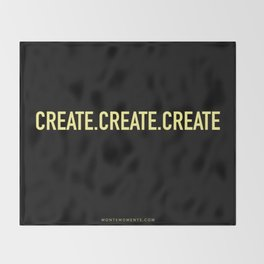 CREATE.CREATE.CREATE Throw Blanket