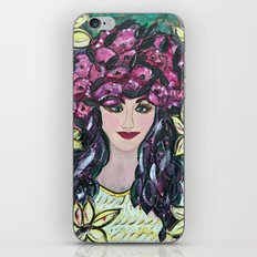 Flowering Girl in Yellow iPhone & iPod Skin