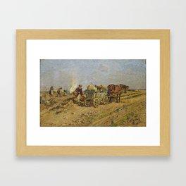 MÜHLIG, HUGO 1854 Dresden - 1929   Harvesting Hessian Peasants Framed Art Print