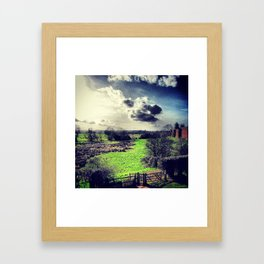 Gate to the Green Framed Art Print