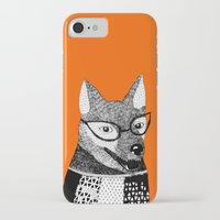 mr fox iPhone & iPod Cases featuring Mr. Fox by yellow pony