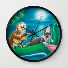 The Owl & the Pussycat Wall Clock