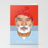 bill murray Stationery Cards featuring BILL MURRAY by Joemetric