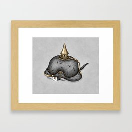 Pickelhaube Framed Art Print