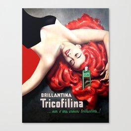 Vintage Brillantina Tricofilina Canvas Print