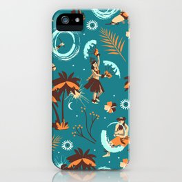 Hawaiian fire dancers iPhone Case