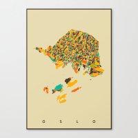 oslo Canvas Prints featuring Oslo  by Nicksman