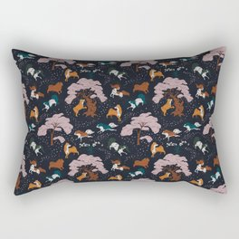 Cherry Blossom and Dog Dance Rectangular Pillow